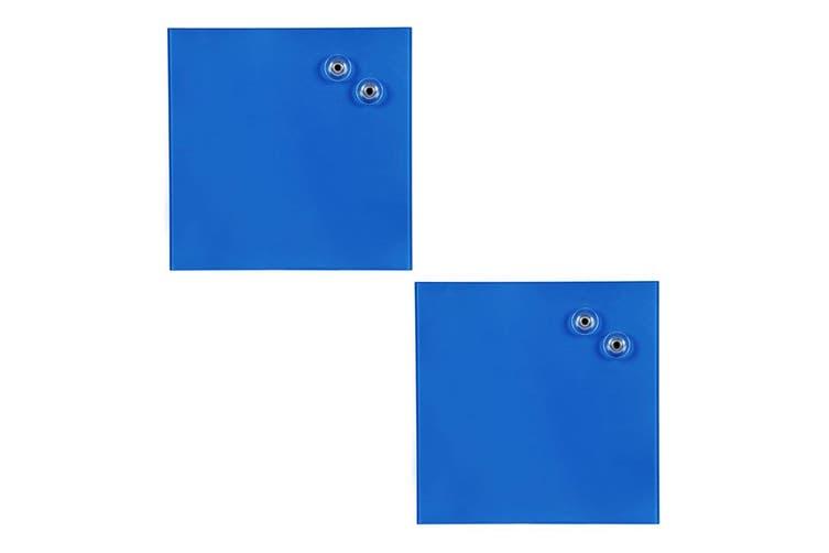 2PK Quartet 300x300mm Magnetic Tempered Glass Wipe Off/Write Memo/Notes Board BL
