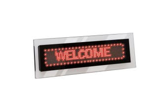 Quartet 36cm LED Scrolling Sign Acrylic Business Message Signage Text Display