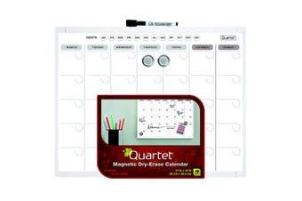 Quartet 28 x 36cm Basic Magnetic Whiteboard Calendar/Planner/Organiser w/ Pen