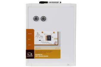 Quartet 36cm White Wall Mountable Magnetic Whiteboard/Marker/Magnet Home Office