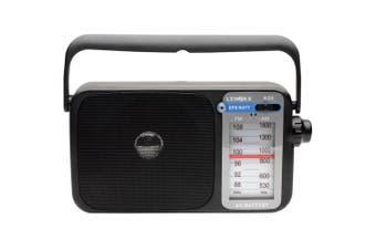 Lenoxx R26 AM/FM Black Radio with Earphone jack Plug/ AC/DC & Battery powered