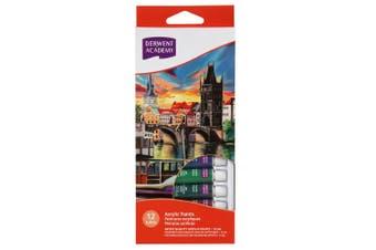 12pc Derwent Academy 12ml Tube Acrylic Paints Art Painting/Craft Artist Supply