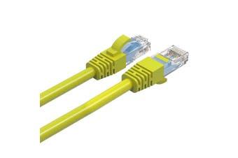 Cruxtec 1m CAT6/RJ45 Network Lead Cable LAN Ethernet Internet Router Cord Yellow