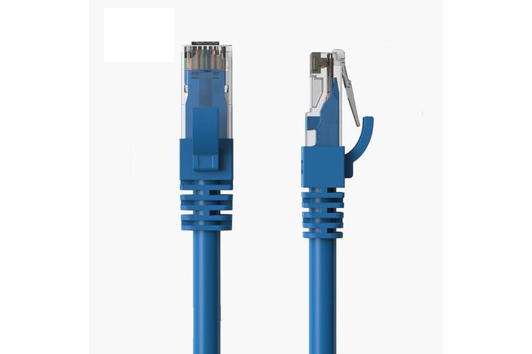 Cruxtec 3m CAT6/RJ45 Network Lead Cable LAN Ethernet Internet Router Cord Blue