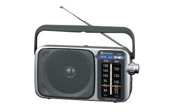 AM/FM Portable Radio Speaker/Earphones Plug Jack/on Battery or Mains Power AC/DC