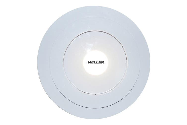 Heller RF250L White 250mm Motorized Ceiling Exhaust Fan w/ LED Light Bathroom