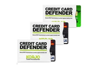 3pk Credit/Smart Card Defender RFID Shield/Shielding Theft Protection Security