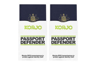 2x 2pc Korjo Sleeves Passport Defender RFID Shield ID Theft Protection/Security