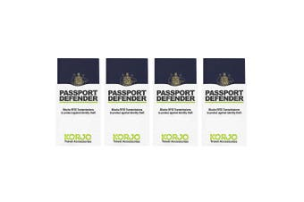 4x 2pc Korjo Sleeves Passport Defender RFID Shield ID Theft Protection/Security
