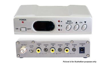 Pro2 Antenna Satelite Foxtel RF Modulator 3X IR/Audio Video Inputs Distributer