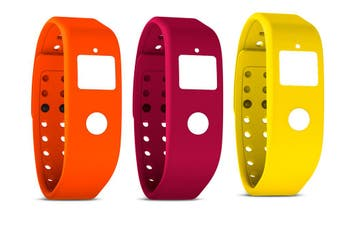 3pc Runtastic Orbit Fitness Tracker Replacement Coloured Wristbands YEL/ORN/PNK