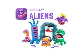 18pc Hey Clay Aliens Air Dry Clay DIY Modelling Art Kids Educational Toy 3y+