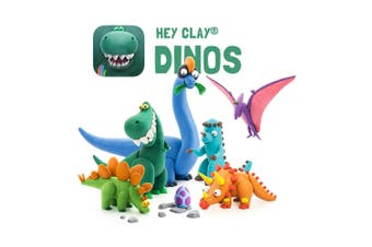 18pc Hey Clay Dinos Air Dry Clay DIY Modelling Art Kids/Craft Educational Toys