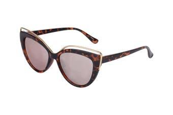 Aspect Fashion Cat Eye Women Sunglasses Mirror Eyewear Glasses UV Lens Tortoise
