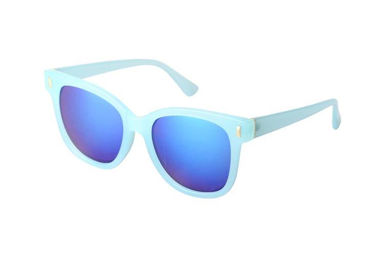 Aspect Fashion Aviator Men Women Mirrored UV Lens Unisex Sunglasses Teal Mirror