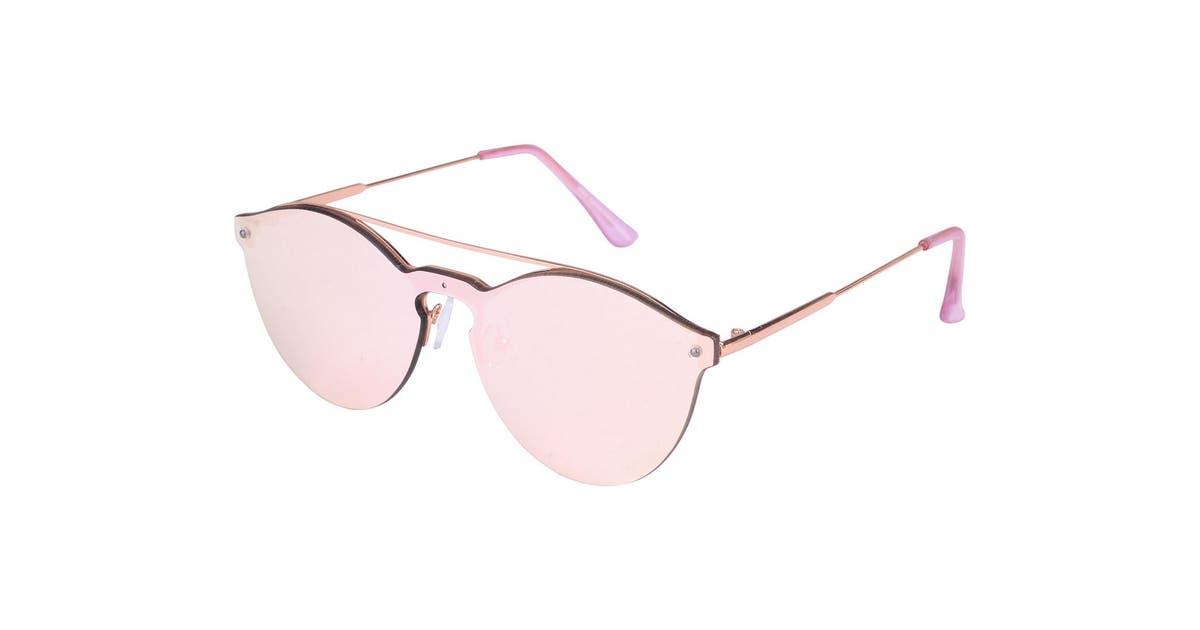 Dick Smith Aspect Fashion Women Round Mirror Sunglasses Eyewear Glasses Uv Lens Rose Gold Sunglasses