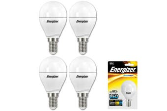4x Energizer LED E14 3.5w Golf Warm White Light Globe/Lightbulb Lamp Bulb 270LM