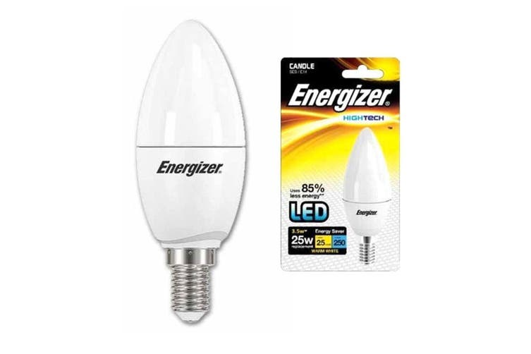 Energizer LED Screw E14 Candle 3.5w Warm White Light Globe/Lightbulb Lamp Bulb