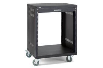 Samson 12 Unit Audio Equipment Universal Rack/Stand Holder Cabinet Organiser BLK