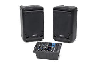 Samson Audio 300W Portable All in One PA System/Speaker w/ Bluetooth/Mixer Black