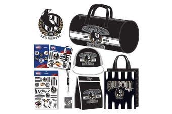 AFL Collingwood Team Kids Showbag w/Sports Bag/Cooler Bag/Tattoo/Badge/Lanyard