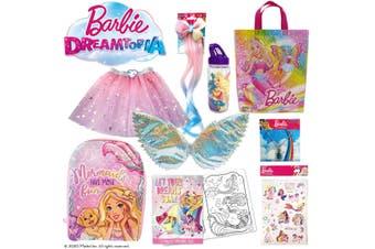 Barbie Dreamtopia Girls Showbag w/Skirt/Backpack/Dress Up Wing/Necklace/Bottle