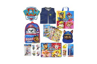 Paw Patrol Kids Showbag w/ Projector Torch/Backpack/Bottle/Vest/Cap/Sticker Book
