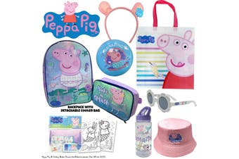 Peppa Pig Mermaid Showbag Kids w/Backpack/Bottle/Sunglass/Headband/Bucket Hat