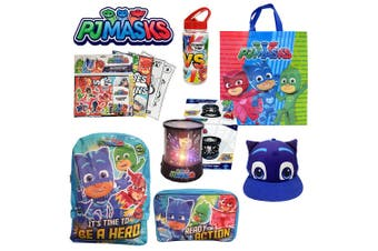 PJ Masks Showbag w/ Cap/Lamp/Bottle/Backpack/Stickers/Colouring Book/Pencils