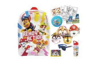 Paw Patrol Kids Showbag Backpack/Stickers/Drink Bottle/Cap/Ball/Sunglass 3y+