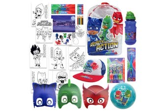 PJ Masks Kids Showbag Backpack/Masks/Toothbrush/Ball/Stamp/Drink Bottle 3y+