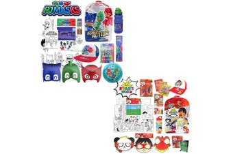 PJ Masks & Ryan's World Kids Combo Showbag Backpack/Masks/Toothbrush/Ball 3y+