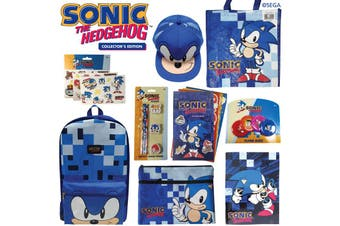 Sonic The Hedgehog Showbag w/zBackpack/Notebook/Tattoos/Tote Bag/Pencil Case/Cap