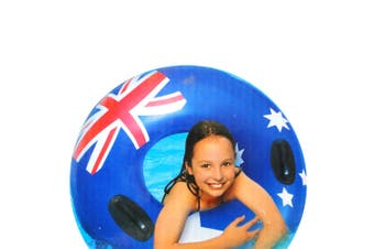 Australia Flag 98cm Ring Floating Inflatable Kids Swimming Pool Round Water Toy