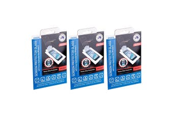 3PK Laser Tempered Glass Screen Protector w/ Applicator for Apple iPhone 5/5S