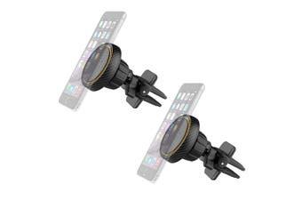 2x Sansai Magnetic Car Smartphone/Mobile Air Vent Holder/Mounts Hands Free Black