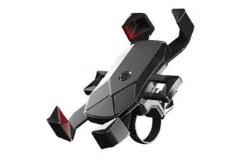 Sansai Bike Handlebar Plastic Mount/Holder Cradle Stand for Mobile Phone Black