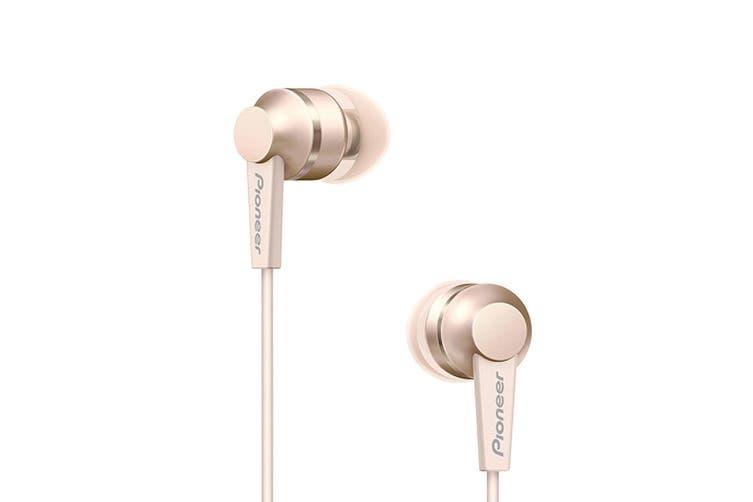 Pioneer Wireless Bluetooth In Ear Neckband Earphones Headphones/Headset Mic Gold