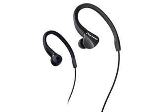 Pioneer Ear-Hook Ear Buds Sports Headphones/Earphones for iPhone/Samsung Black