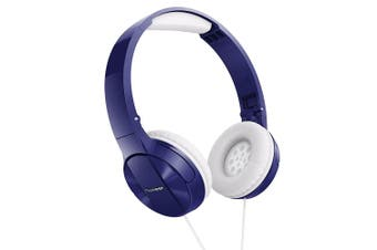 Pioneer SE-MJ503-L Stereo Foldable Headphones/Headband/On Ear/Blue for MP3/CD