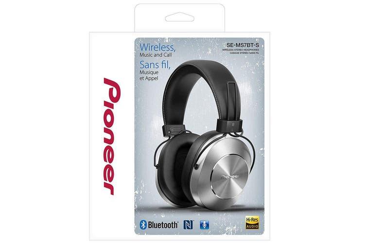 Pioneer SE-MS7BT-S Wireless Bluetooth/NFC Stereo Over-Ear Headphones/Headset/Mic