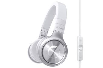 Pioneer SE-MX8 Stereo Headphones Headset w/Mic Ear-Pad for iPhone/Android 3.5mm