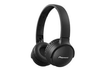 Pioneer S3 Wireless Bluetooth On Ear Foldable Headphone Headset w/ Mic Black