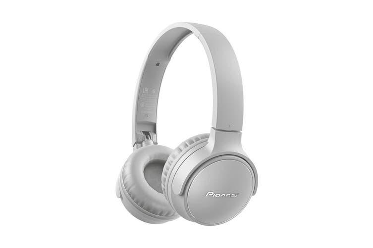 Pioneer S3 Wireless Bluetooth On Ear Foldable Headphone Headset w/ Mic Grey