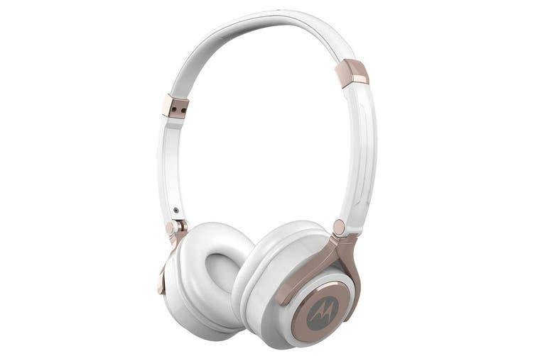 Motorola Pulse 2 On-Ear Headphone/Headset w/ Microphone for iPhone/Samsung White