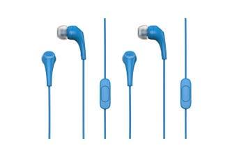 2x Motorola Earbuds 2 In-Ear Headphones/Headset w In-Line Microphone/Earbuds BL