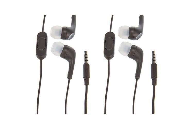 2x Motorola Earbuds 2 In-Ear Headphones/Headset w In-Line Microphone/Earbuds BLK