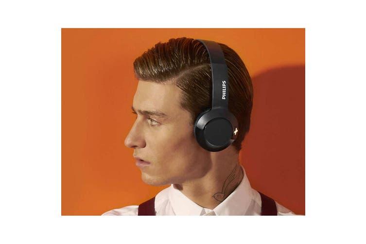 Philips Bass Bluetooth Wireless On-Ear Headphones w/ Mic Foldable Headset Black