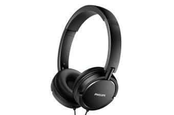 Philips SHL5000 On-Ear Headphones DJ Headband/Extra Bass/Flat Folding - Black