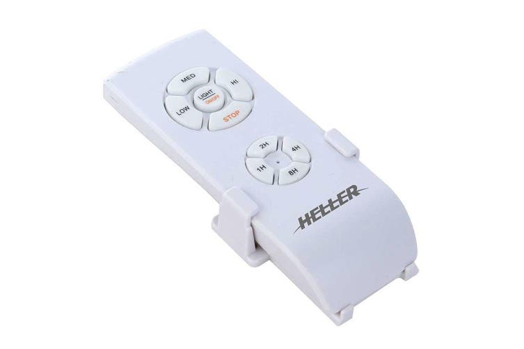 Heller Sienna 1.2m Ceiling Fan/Air Cooling/Light/Remote/Cherry Wood/White Blades